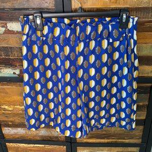 Rayon paper bag waist shorts